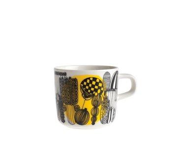 Marimekko IGC Oiva Siirtolapuutarha Coffee Cup White/Black 2 dl