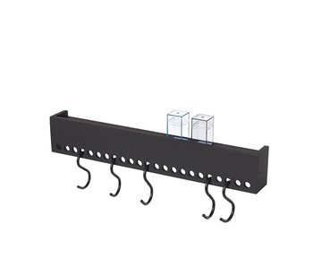 Nomess So-Hooked Wall Rack 60 Black