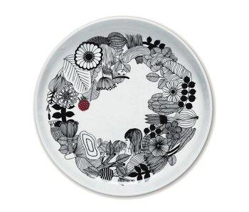 Marimekko IGC Oiva Siirtolapuutarha Platter White/Black 32cm