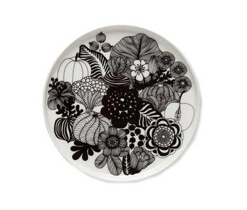 Marimekko IGC Oiva Siirtolapuutarha Plate White/Black 20 cm