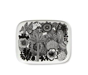 Marimekko IGC Oiva Siirtolapuutarha Plate White/Black 15/12 cm