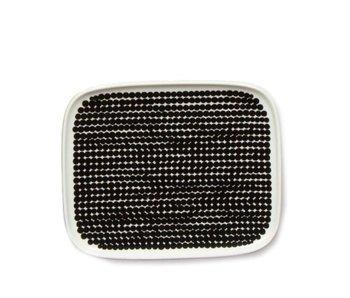 Marimekko IGC Oiva Räsymatto Plate White/Black 15/12 cm
