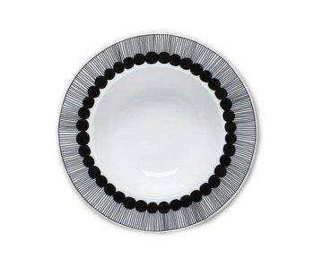 Marimekko IGC Oiva Siirtolapuutarha Deep Plate White/Black 20 cm