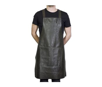 Dutchdeluxes Suspender Apron Leather Vintage Grey