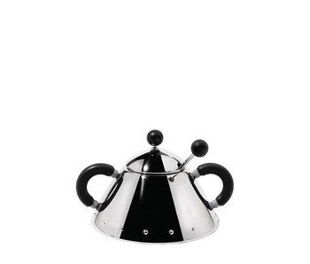 Alessi 9097 Sugar Bowl w. Spoon Michael Graves Black