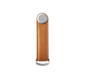 Orbitkey Key Organiser Leather Tan/White