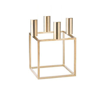 By Lassen Kubus 4 Candle Holder Brass