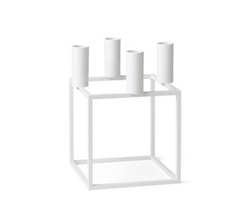 By Lassen Kubus 4 Candle Holder White