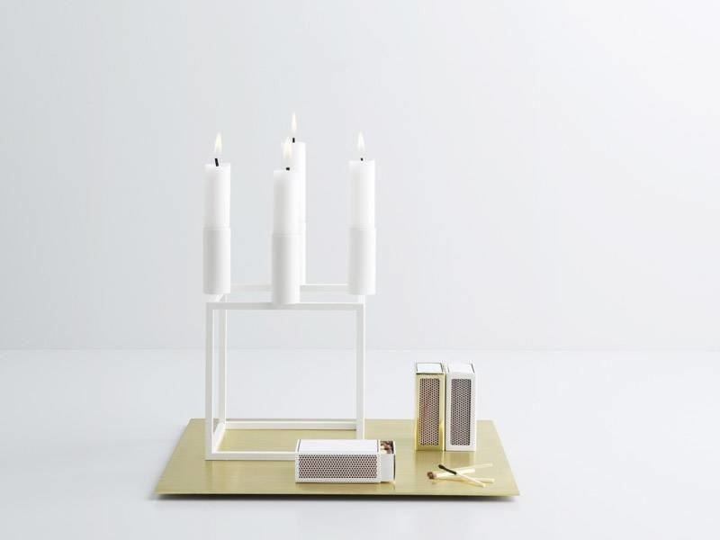 By Lassen Kubus 4 Candle Holder White