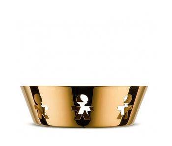 Alessi Girotondo Basket Small 24K Gold Limited Edition