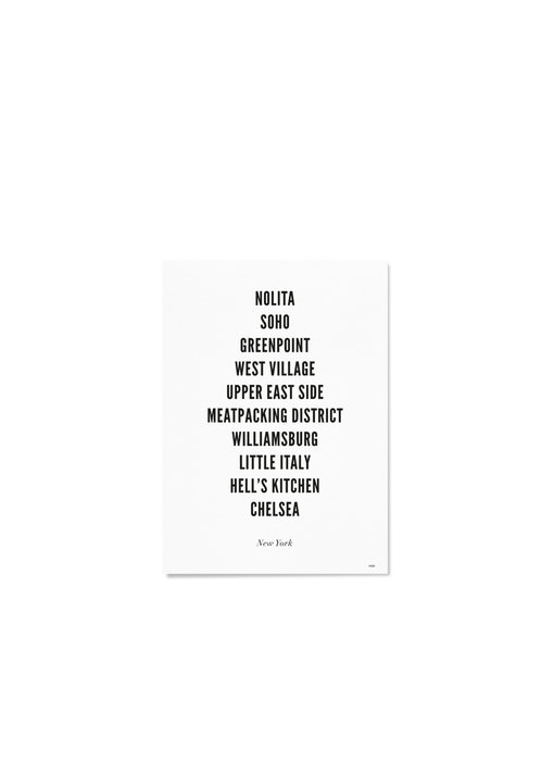 Wijck Poster New York City Typography 21/30