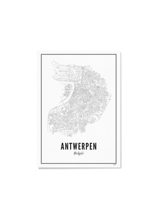 Wijck Poster Antwerp City 50/70