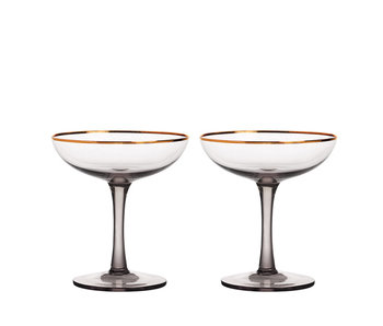 &Klevering Champagne Coupe Smoked 2 pcs.