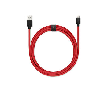 USBepower Fab XXL Cable 2,5m Micro USB Red
