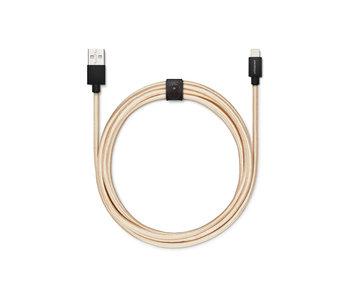 USBepower Evertek XXL Cable 2,5m Lightning Gold