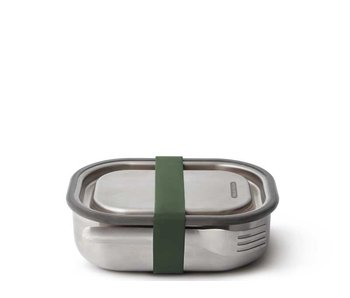 Black+Blum Stainless Steel Lunch Box Small Olive
