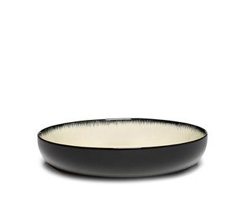Serax Dé Bord Hoog Off-White/Black VAR D 18,5 cm