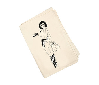 Helen B Tea Towel  Pin Up Cake Girl