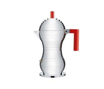Alessi Pulcina Coffee Maker 6-cups Red
