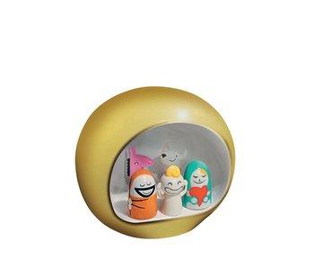 Alessi Presepe Kerststal Goud 5 figuurtjes