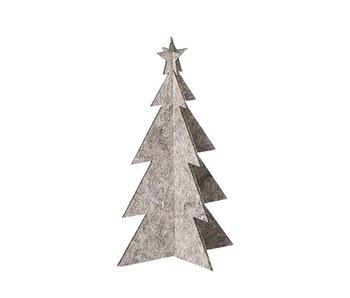 Oohh Xmas Kerstboom Grijs 25 cm