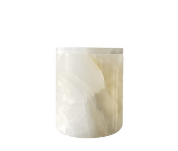 The Luxuriate White Onyx Candle Holder