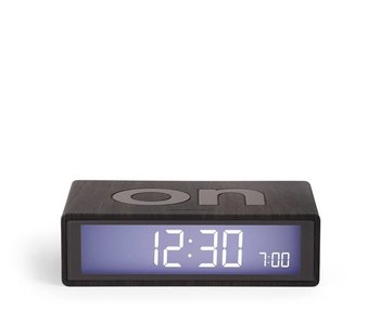 Lexon Flip Alarm Clock Dark Wood