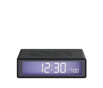 Lexon Flip Alarm Clock Dark Grey