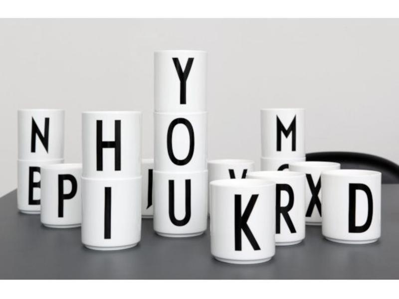 Design Letters Porcelain Cup AJ