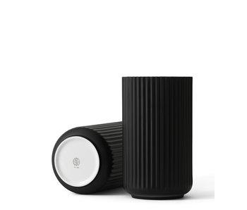 Lyngby Porcelaen Vase Black Porcelain 25 cm