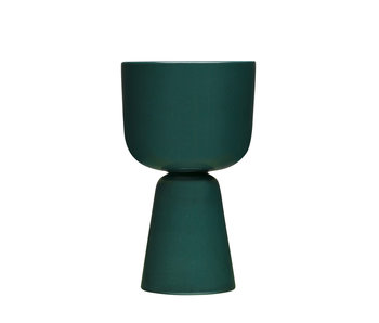 Iittala Nappula Plant Pot 260/155 Dark Green