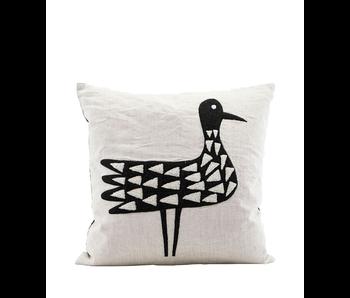 House Doctor Pillow Bird Linen + Stuffing