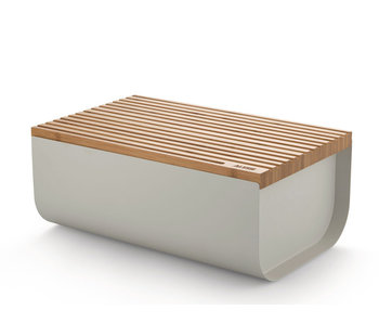 Alessi Mattina Bread Box Warm Grey