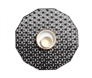 Chilewich Placemat Kaleidoscope Black