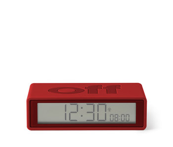 Lexon Flip On/Off Alarm Clock Red
