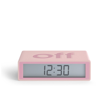 Lexon Flip On/Off Alarm Clock Pink