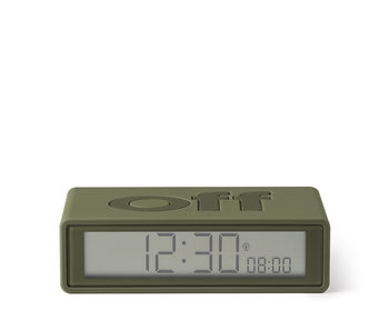 Lexon Flip On/Off Alarm Clock Kakhi