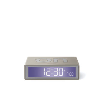 Lexon Flip Travel Clock Alu Glossy