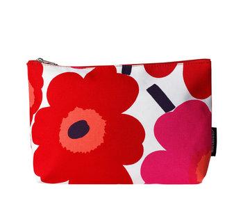 Marimekko Relle Pieni Unikko Cosmetic Bag White/Red