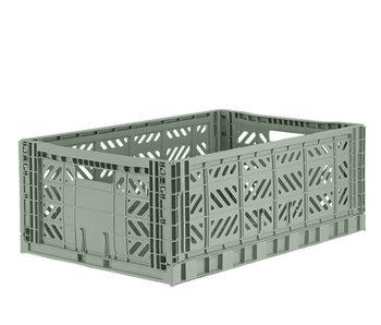 Aykasa Folding Crate Maxi Almond Green