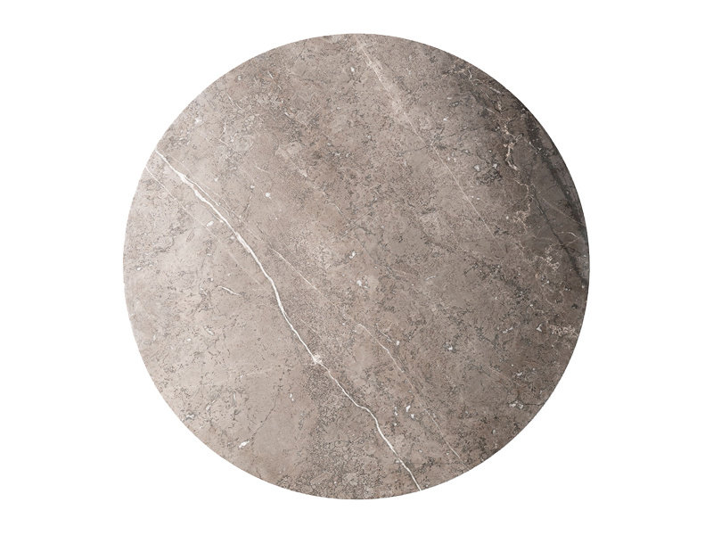 Vipp Vipp 425 Coffee Table Light Grey Marble Ø 90 cm