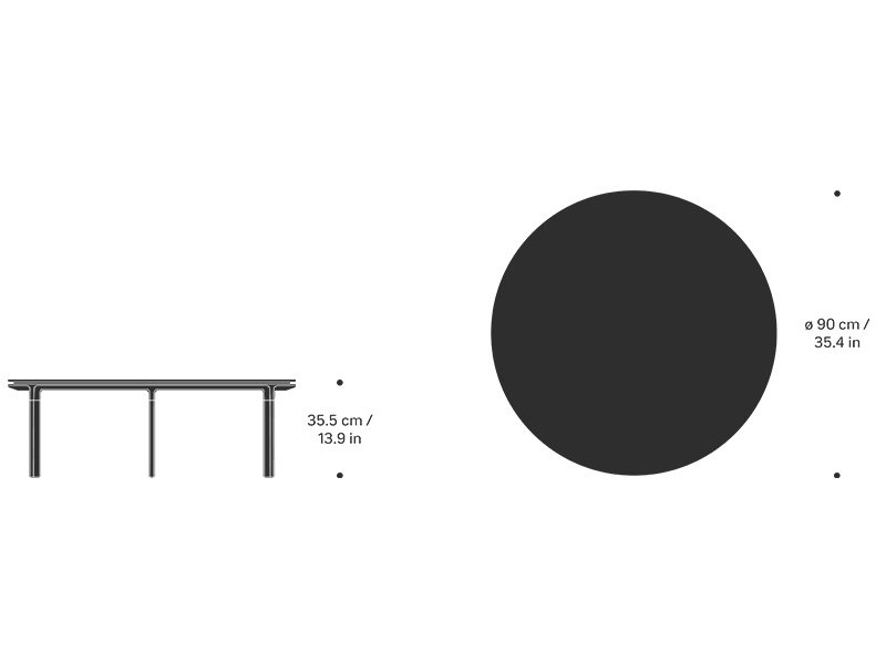 Vipp Vipp 425 Coffee Table Black Marble Ø 90 cm