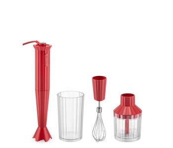 Alessi Plissé Hand Blender + Accessories Red