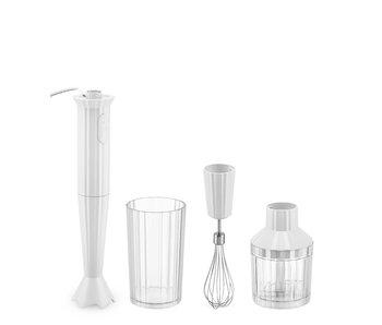 Alessi Plissé Hand Blender + Accessories White