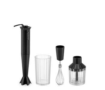 Alessi Plissé Hand Blender + Accessories Black