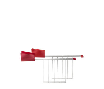 Alessi Plissé Toaster Rack Red 2 pcs.