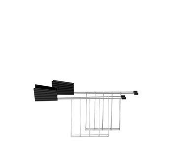 Alessi Plissé Toaster Rack Black 2 pcs.