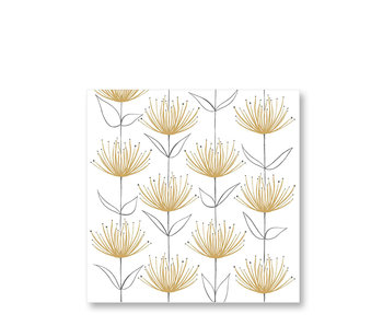 PPD Paper Napkins Flowers on Fire Gold 33/33