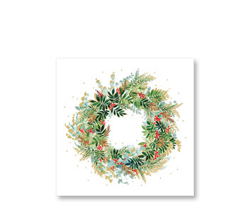 PPD Paper Napkins Christmas Hill Wreath 33/33