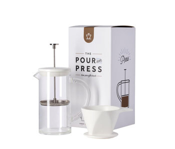 W&P Design Pour Over French Press White